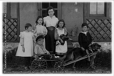 WHFA-EL-0009 - Ellisboro-Trevordale private school of Miss Oliver - ca. 1890